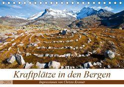 Kraftplätze in den Bergen (Tischkalender 2019 DIN A5 quer) von Kramer,  Christa