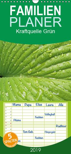 Kraftquelle Grün – Familienplaner hoch (Wandkalender 2019 , 21 cm x 45 cm, hoch) von Andersen,  Ilona