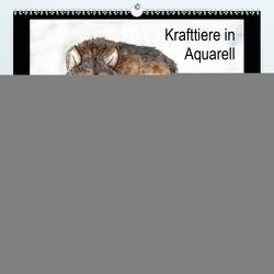 Krafttiere in Aquarell (Premium, hochwertiger DIN A2 Wandkalender 2020, Kunstdruck in Hochglanz) von Steinke,  Sandra