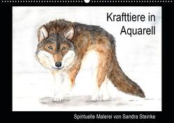 Krafttiere in Aquarell (Wandkalender 2020 DIN A2 quer) von Steinke,  Sandra
