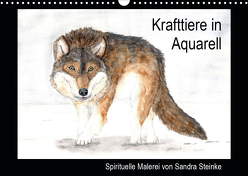 Krafttiere in Aquarell (Wandkalender 2020 DIN A3 quer) von Steinke,  Sandra