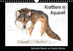 Krafttiere in Aquarell (Wandkalender 2020 DIN A4 quer) von Steinke,  Sandra