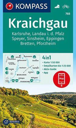 Kraichgau, Karlsruhe, Landau i. d. Pfalz, Speyer, Sinsheim, Eppingen, Bretten, Pforzheim von KOMPASS-Karten GmbH