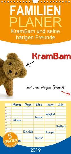 KramBam und seine bärigen Freunde – Familienplaner hoch (Wandkalender 2019 , 21 cm x 45 cm, hoch) von Berg + Antje Lindert-Rottke,  Martina