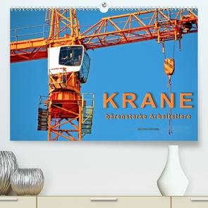 Krane – bärenstarke Arbeitstiere (Premium, hochwertiger DIN A2 Wandkalender 2020, Kunstdruck in Hochglanz) von Roder,  Peter