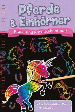 Kratzbuch: Pferde und Einhörner