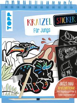 Kratzel-Stickerbuch für Jungs von frechverlag