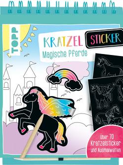 Kratzel-Stickerbuch Magische Pferde von frechverlag
