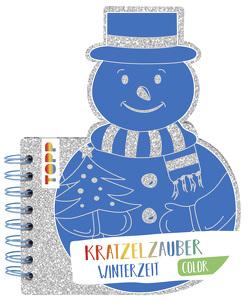 Kratzelzauber Color Winterzeit (Kratzelbuch in Schneemannform) von frechverlag
