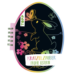 Kratzelzauber Ostern (Kratzelbuch in Ostereiform) von frechverlag