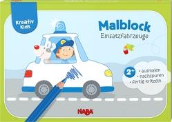 Kreativ Kids – Malblock Einsatzfahrzeuge von Herbig,  Teresa, Schröder,  Mirka