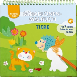 Kreativ Kids – Schablonen-Malbuch Tiere von Bauroth,  Nadin, Filipiak,  Anna Lena, Frömelt,  Ines, Neundorfer,  Jutta, Schröder,  Mirka