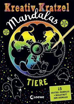 Kreativ-Kratzel Mandalas: Tiere von Loske,  Judith