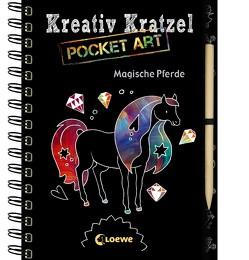 Kreativ-Kratzel Pocket Art: Magische Pferde von Labuch,  Kristin