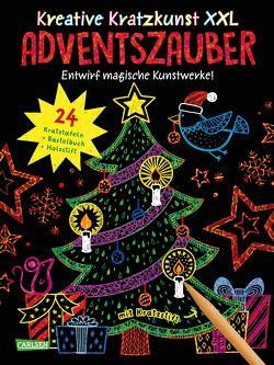Kreative Kratzkunst XXL: Adventszauber: Set mit 24 Kratzbildern, Anleitungsbuch und Holzstift von Dolinger,  Igor, Mildner,  Christine