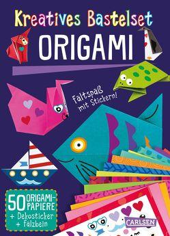 Kreatives Bastelset: Origami: Set mit 50 Faltbögen, Anleitungsbuch und Falzhilfe von Poitier,  Anton