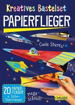 Kreatives Bastelset: Papierflieger: Set mit 20 Faltbögen, Anleitungsbuch und Falzhilfe von Poitier,  Anton