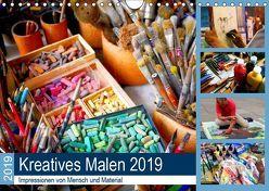 Kreatives Malen 2019. Impressionen von Mensch und Material (Wandkalender 2019 DIN A4 quer) von Lehmann (Hrsg.),  Steffani