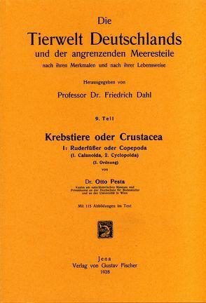 Krebstiere oder Crustacea. Teil I: Ruderfüsser oder Copepoda (1. Calanoida, 2. Cyclopoida) von Pesta,  Otto