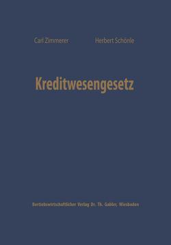 Kreditwesengesetz von Zimmerer,  Carl