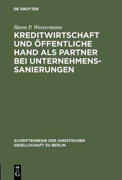 Kreditwirtschaft und öffentliche Hand als Partner bei Unternehmenssanierungen von Westermann,  Harm P.