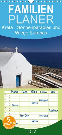 Kreta – Sonnenparadies und Wiege Europas – Familienplaner hoch (Wandkalender 2019 , 21 cm x 45 cm, hoch) von D. Bedford,  Oliver