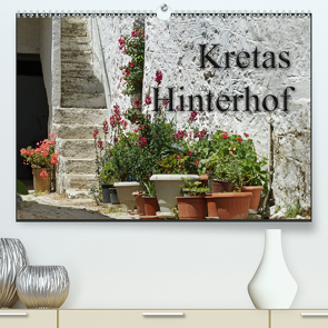 Kretas Hinterhof (Premium, hochwertiger DIN A2 Wandkalender 2021, Kunstdruck in Hochglanz) von Flori0