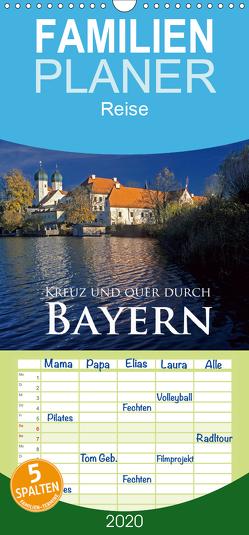 Kreuz und quer durch Bayern – Familienplaner hoch (Wandkalender 2020 , 21 cm x 45 cm, hoch) von Janka,  Rick