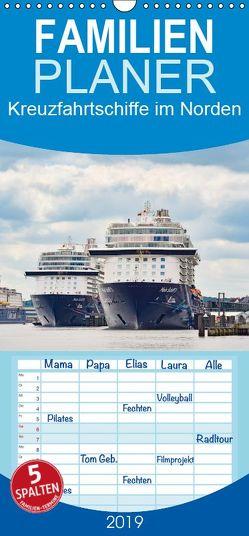 Kreuzfahrtschiffe im Norden – Familienplaner hoch (Wandkalender 2019 <strong>21 cm x 45 cm</strong> hoch) von Kulartz,  Rainer, Plett,  Lisa