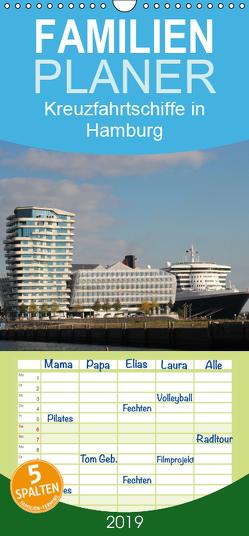 Kreuzfahrtschiffe in Hamburg – Familienplaner hoch (Wandkalender 2019 , 21 cm x 45 cm, hoch) von Brix - Studio Brix,  Matthias