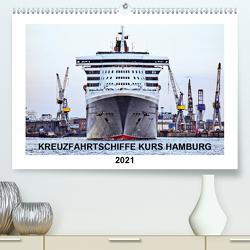 Kreuzfahrtschiffe Kurs Hamburg 2021 (Premium, hochwertiger DIN A2 Wandkalender 2021, Kunstdruck in Hochglanz) von Stempel,  Christoph