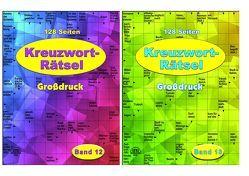 Kreuzworträtsel – in Großdruck – je Heft 128 Seiten – weisses Papier