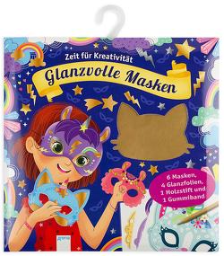 Krickel-Kratz-Malbilder. Glanzvolle Masken (6 Masken, 4 Glanzfolien, ein Holzstift und ein Gummiband) von Varone,  Eugénie