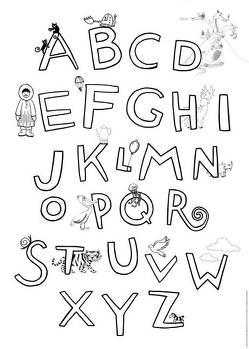 Krickelkrakel ABC Poster von Die Krickelkrakels,  Die