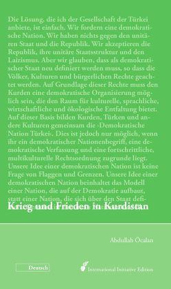 Krieg und Frieden in Kurdistan von Internationale Initiative »Freiheit für Abdullah Öcalan – Frieden in Kurdistan«, Öcalan,  Abdullah