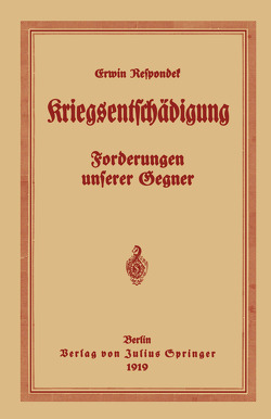 Kriegsentschädigung von Respondek,  Erwin