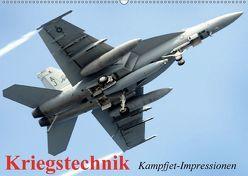 Kriegstechnik. Kampfjet-Impressionen (Wandkalender 2018 DIN A2 quer) von Stanzer,  Elisabeth