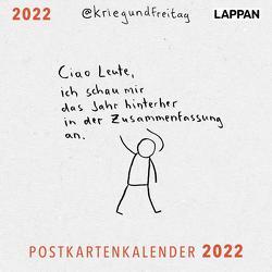 @kriegundfreitag Postkartenkalender 2022 von @KriegundFreitag