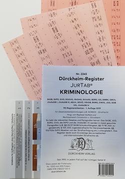 KRIMINOLOGIE Griffregister Nr. 2245 (2019/2020) von Dürckheim,  Constantin, Holfeld,  Raphael