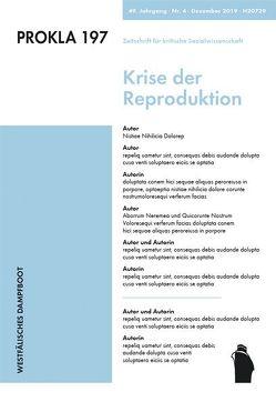 Krise der Reproduktion von 397,  PROKLA