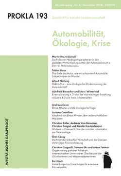 Krise und Transformation der Automobilität von PROKLA 193