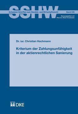 Kriterium der Zahlungsunfähigkeit in der aktienrechtlichen Sanierung von Hachmann,  Christian