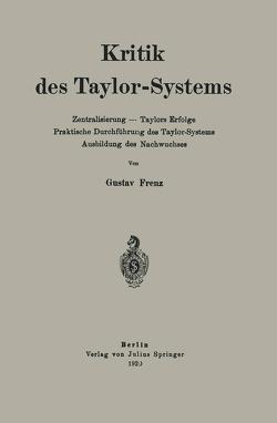 Kritik des Taylor-Systems von Frenz,  Gustav