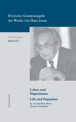 Kritische Gesamtausgabe der Werke von Hans Jonas – Vorlesungen, Bd. II/3 von Beckers,  Jens Ole, Brune,  Jens