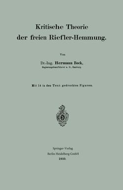 Kritische Theorie der freien Riefler-Hemmung von Bock,  Hermann