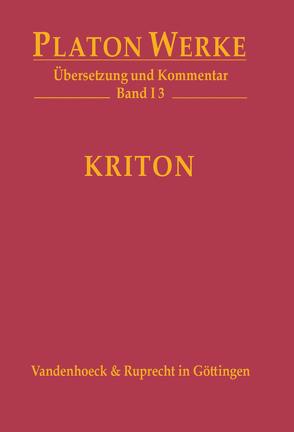 Kriton von Bernard,  Wolfgang, Platon