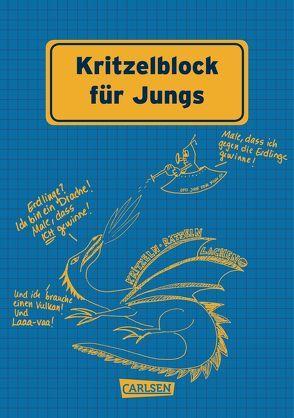 Kritzelblock für Jungs von Hahn,  Christiane, Haubner,  Antje