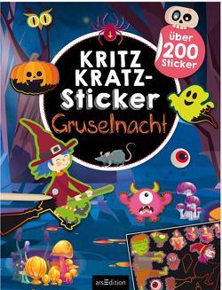 Kritzkratz-Sticker Gruselnacht von Schindler,  Eva