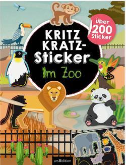 Kritzkratz-Sticker Im Zoo von Schindler,  Eva