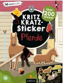 Kritzkratz-Sticker Pferde von Schindler,  Eva